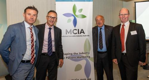 Andrew Laming, Richard Di Natale Leader of the Greens, Dr Mike Freelander & Peter Crock Chair MCIA