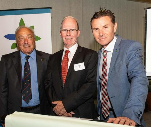 Peter Crock Chair MCIA & Andrew Laming, MP & Dr Mike Freelander